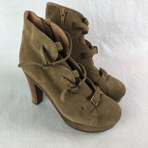 See by Chloe Suede Boots buckles Ankle Booties 36